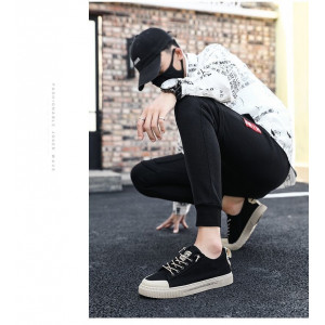 SH43 Sepatu Pria Import Project Fashion Sport Kanvas Canvas Keren