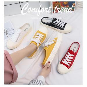 SH27 Sepatu Wanita Sneakers Low Slip on Casual Women Shoes