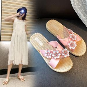 SH22 Sandal Wanita Tiga Bunga Women Sandals