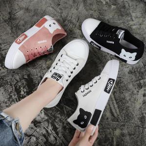 SH20 Sepatu Canvas Wanita Cat dan Fish Bone Women Canvas Shoes