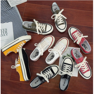 SH11 Sepatu Kanvas Wanita Korea Style Warna Warni Women Canvas Shoes