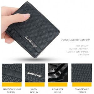 BA28 Dompet Pria Original Baellerry PU Leather Texture Men Wallet