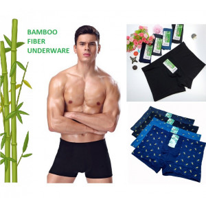 CD03 Celana Dalam Boxer Pria Katun Bambu Bamboo Fiber Underware