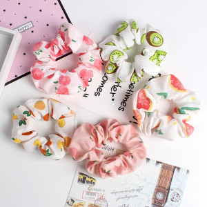 IK95 Ikat Rambut Wanita Scrunchie Fruit Buah Color Hair Band