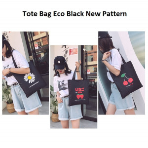 TC67 Nice Eco Black New Pattern Women Tote Bag Tas Wanita