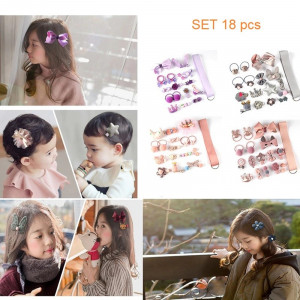 IK80 Ikat Jepit Rambut Korea Anak Cute Little Girl set 18 pcs