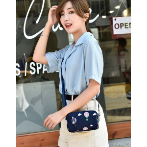 TS156 Tas Selempang Mini Wanita Sweet Love Nylon Waterproof Sling Bag