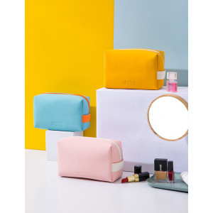 PC52 Rainbow Solid Color PU Leather Cosmetic Pouch / Tas Kosmetik