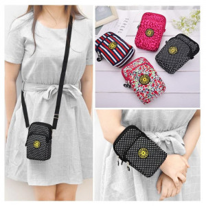 TS130 Tas Selempang Mini Wanita Sport Nylon Waterproof Sling Bag