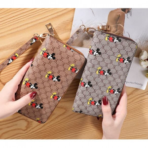 W90 Dompet Panjang Miki Show Big Zipper Women Wallet