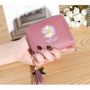 W86 Dompet Pendek Mini Wanita Daisy Flower Forever Lovely Women Wallet