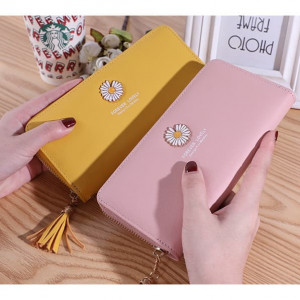 W87 Dompet Panjang Wanita Daisy Flower Colorfull Women Wallet