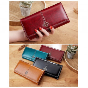 W85 Dompet Import Wanita Panjang Original Kiear Wax Leather