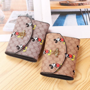 W80 Dompet Mini Wanita Miki Bee Women Short Wallet