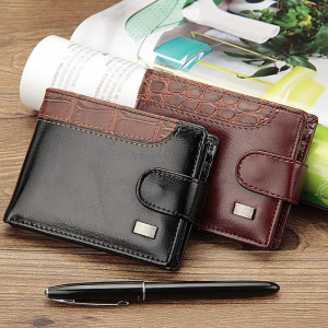 BA06 Dompet Pria Pilusi Leather Vintage Men Wallets Coin Pocket