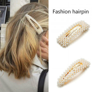 IK16 Korea Pearl Fashion Hair Pin Jepit Rambut