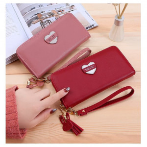 W65 Dompet Panjang Wanita Forever Young Big Heart Women Long Wallet