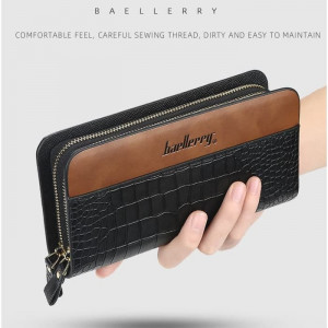 BA01 Original Baellerry Croco Long Wallet / Dompet Pria dan Wanita