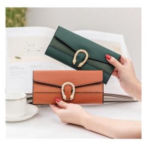 W32 Dompet Wanita AIGN Panjang Solid Women Wallet