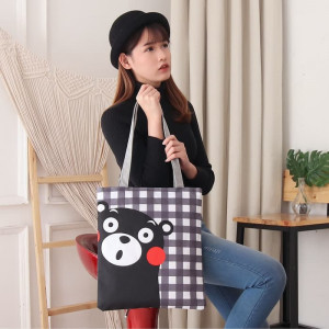 TC61 Women Tote Canvas Bag Civeto Kumamon / Tas Wanita