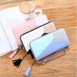 W30 Dompet Korea Multicolor Zipper Fashion Leather Women Wallet