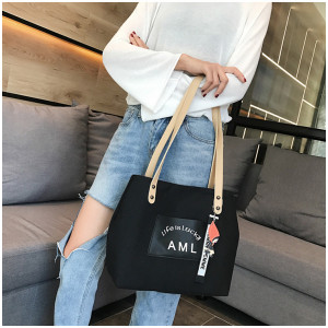 TS112 Korea AML Canvas Women Shoulder bag / Tas Bahu Wanita