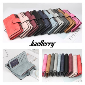 W14 Dompet Wanita Baellerry Panjang N2345 Solid Color Women Wallet