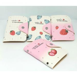 DKK10 Card Holder Dompet Kartu Karakter Lucu Imut Strawberry