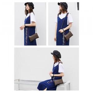 TS100 Summer Double Layer Zipper Sling Bag / Tas Selempang Wanita
