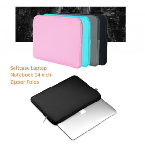 SCL02 Softcase Laptop Notebook 14 inchi Zipper Polos