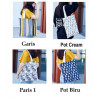 TC36 World Pattern Canvas Tote Bag / Tas Pundak Wanita