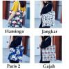 TC36 World Pattern Canvas Tote Bag / Tas Pundak Wanita