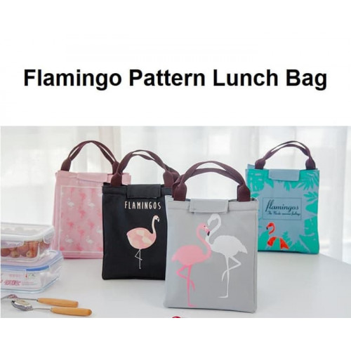 LB02 Lunch bag motif Flamingo / Tas Bekal Cooler Bag