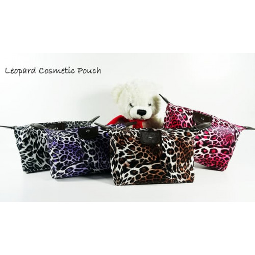 (Leopard) Pouch Tas Kosmetik Bag Make Up Body Lotion Aksesoris