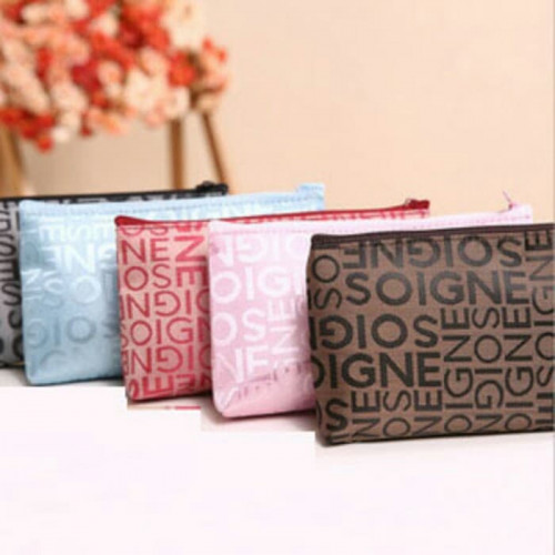 Tas Kosmetik Korea Motif Abjad / Korean Cosmetic Bag