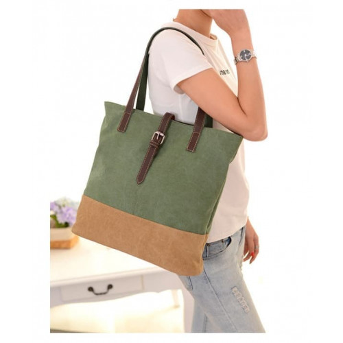 TS55 Korea Retro Canvas Women Shoulder Bag / Tas Selempang Wanita