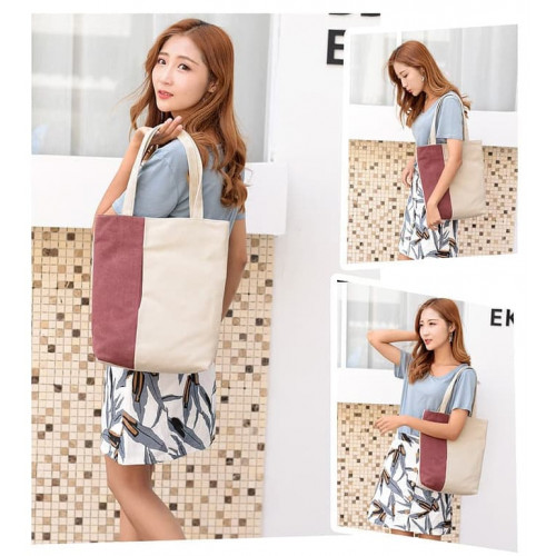 TS54 Korea Casual ART Canvas Women Shoulder Bag / Tas Selempang Wanita