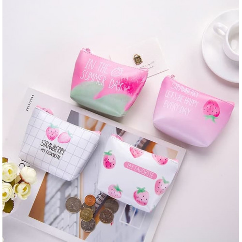 DK004 Dompet Koin Strawberry / Coin Wallet