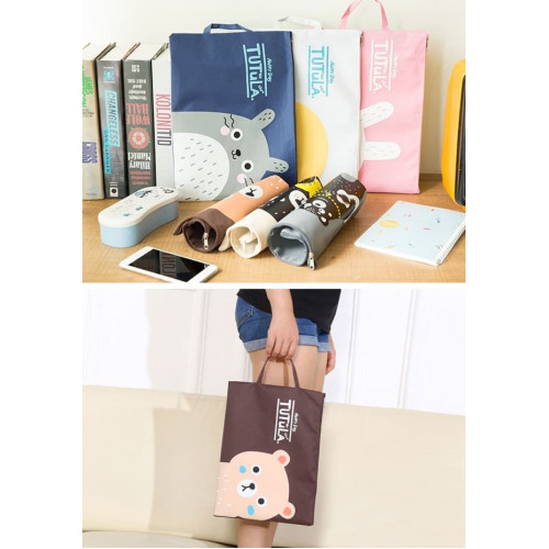 PF01 Creative Fun Print Portable A4 file Storage pouch bag