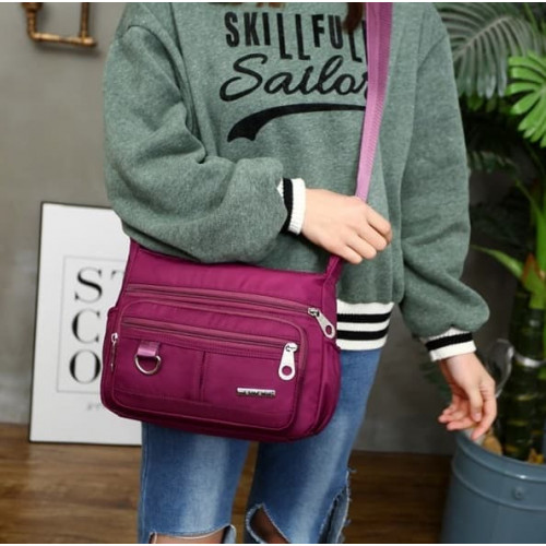 S06 Multipurpose Nylon Women Sling bag / Tas Selempang