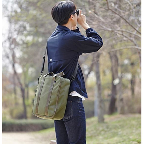 S10 Green Black Korea Style Travel Trunk Bag / Tas Selempang