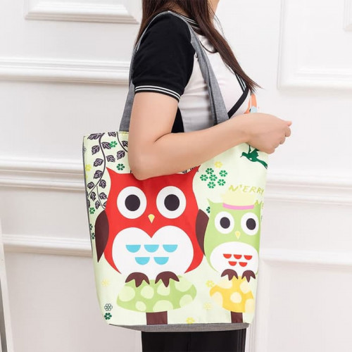 TC04 Civeto Printed Canvas Tote Bag / Tas Selempang