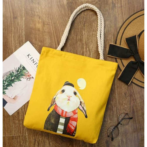 TC24 Tote Cat and Rabbit/ Tas Selempang