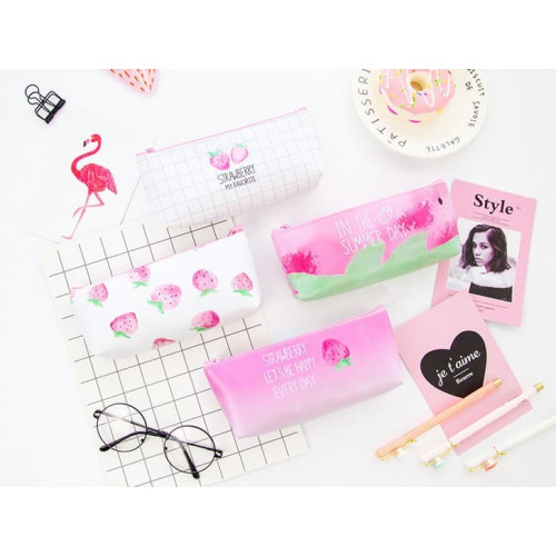 TP003 Tempat Pensil Strawberry