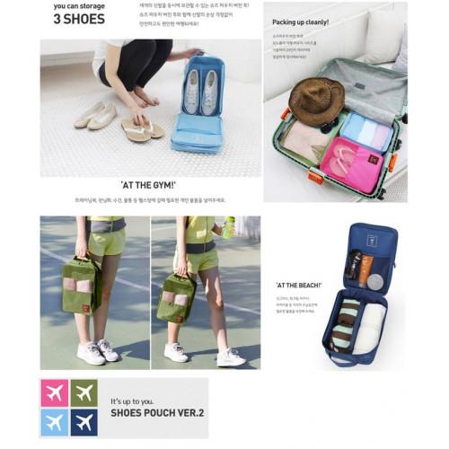 Korea Monopoly Travel Shoe pouch ver 2 /Shoe Bag organizer /Tas Sepatu